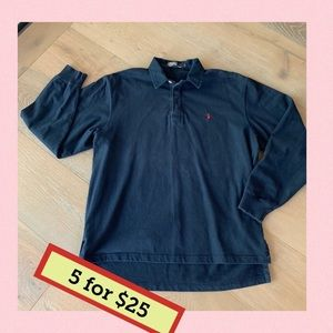 Polo by Ralph Lauren long sleeve polo M blue
